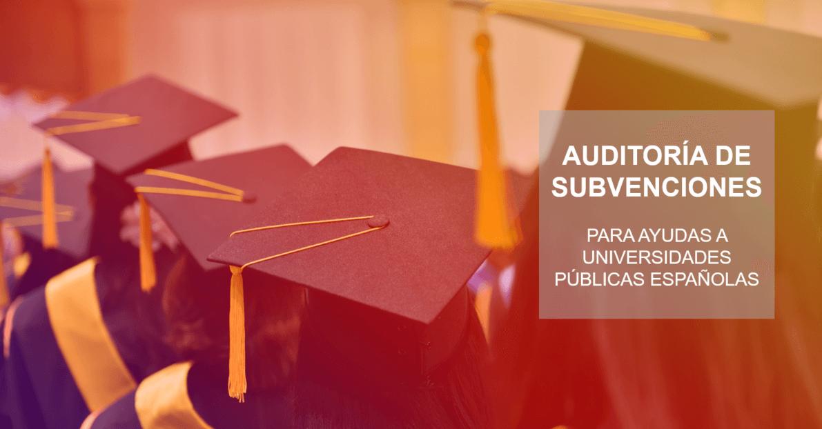 auditoria subvenciones universidades publicas